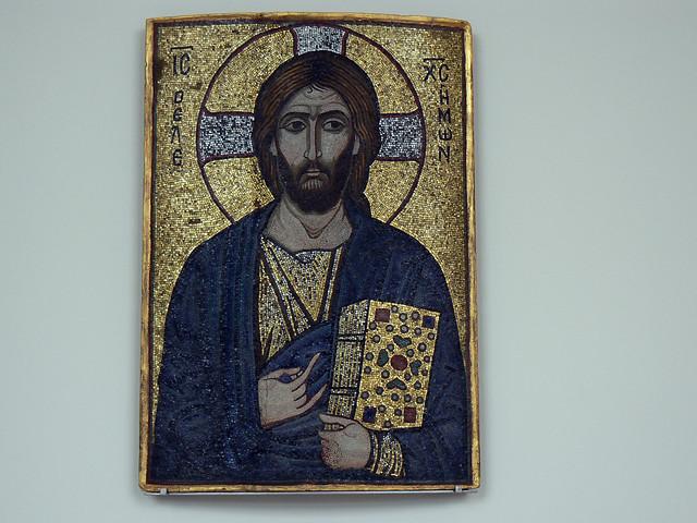 Byzantine mosaic of Christ, Bodemuseum, Berlin, 22nd July 2007