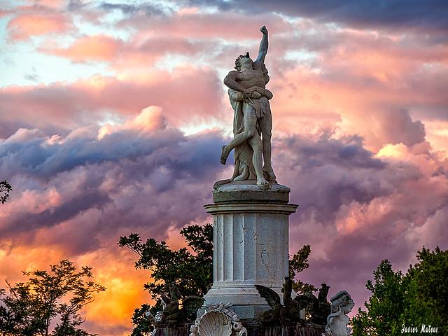 Fuente de Hércules y Anteo, en Aranjuez