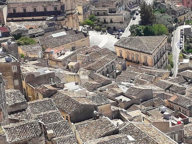 Les toits de Modica, Modica, Province de Raguse, Sicile.