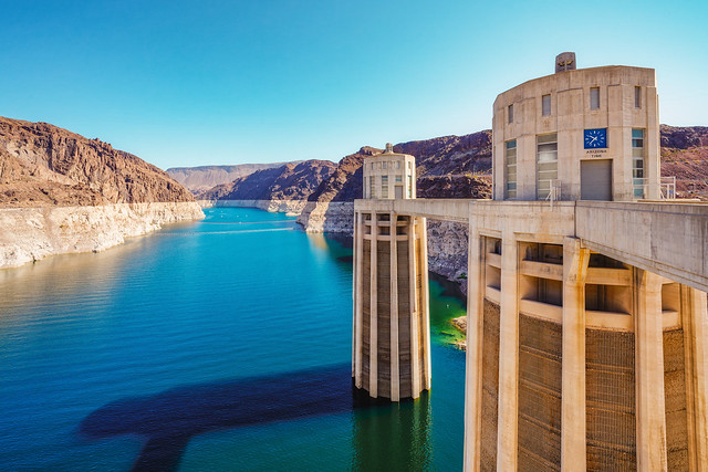 Hoover Dam, the largest water reservoir in the US