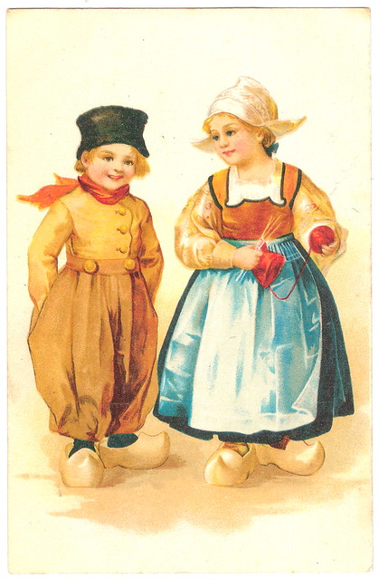 Girl and Boy in Holland in 1906. And Mork & Mindy.
