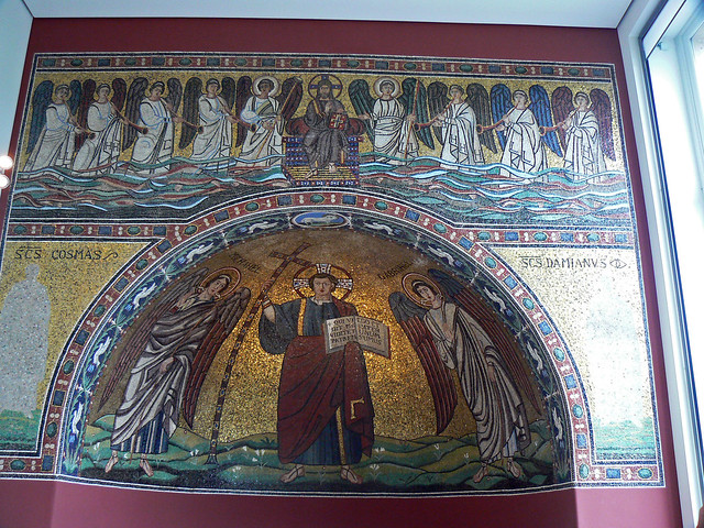 Mosaic from the church of San Michele in Africisco, Ravenna, Bodemuseum, Berlin, 22nd July 2007