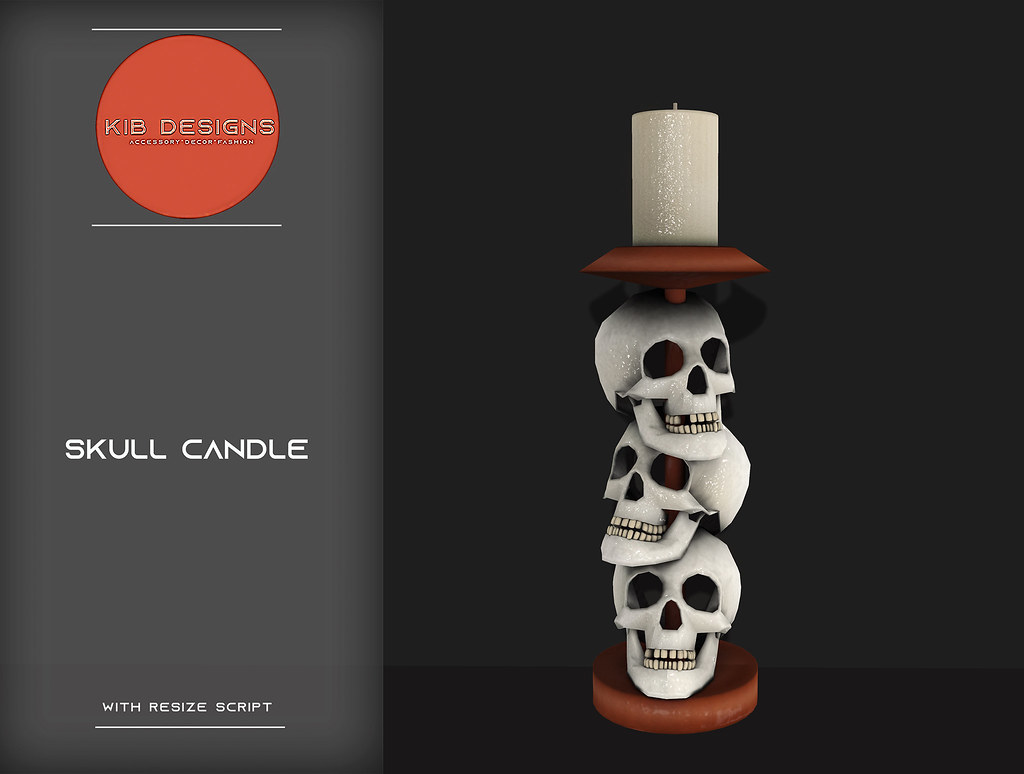 KiB Designs – Skull Candle @Darkness Event