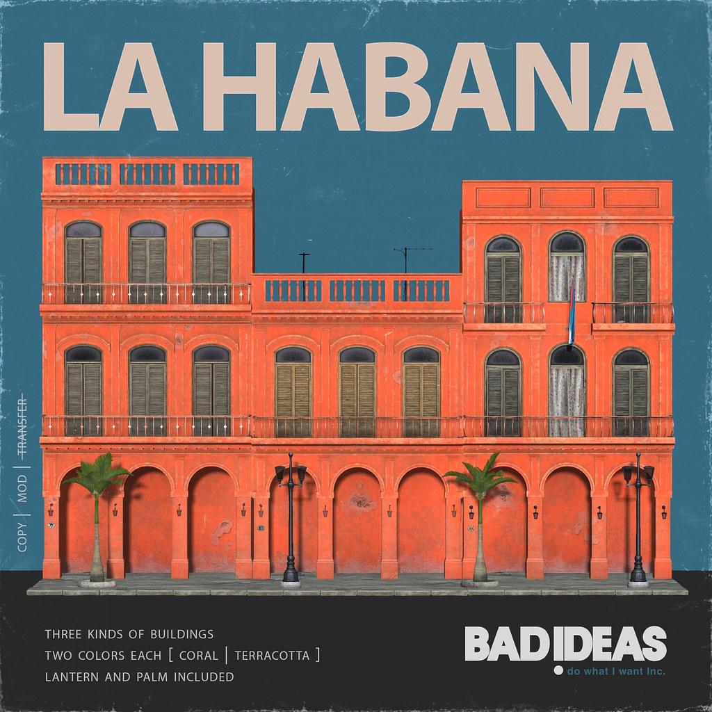 ' BAD IDEAS ' La Habana Coral & Terracotta