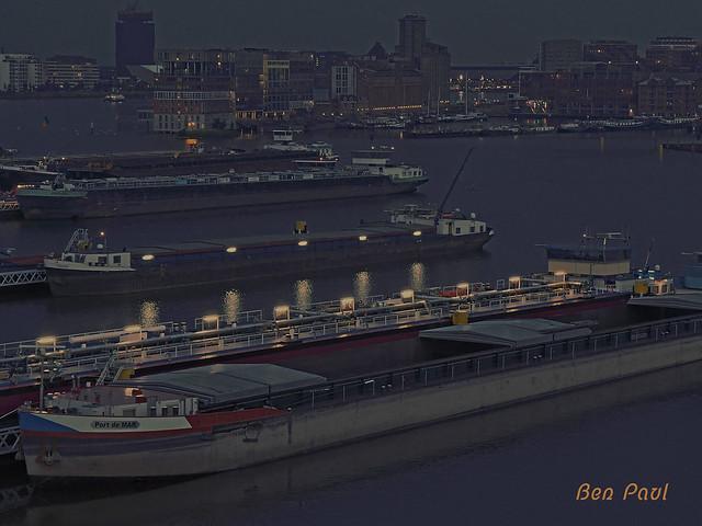 Ben Paul F0213 Twilight over Amsterdam harbour 2015