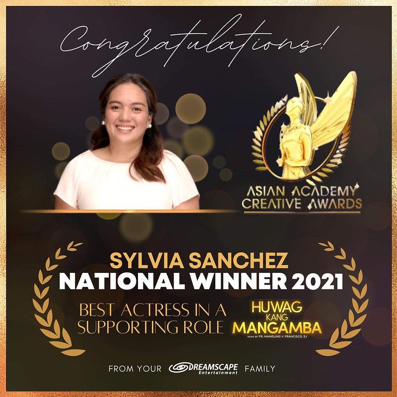 Sylvia Sanchez Asian Academy Creative Awards Art Card
