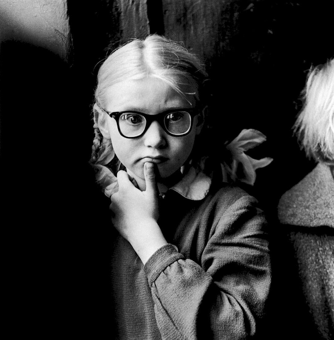 1962. Школа для слепых детей. Первоклассница, Каунас