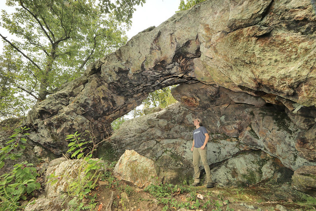Devil's Kitchen Natural Arch, Hollis Quartzite, Buzzard Roost, Meriwether County, Georgia, Noah Yawn 1