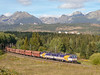 131031 & 131032 banking a westbound freight train