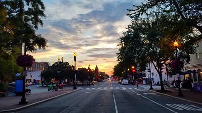 M Street at Sunset