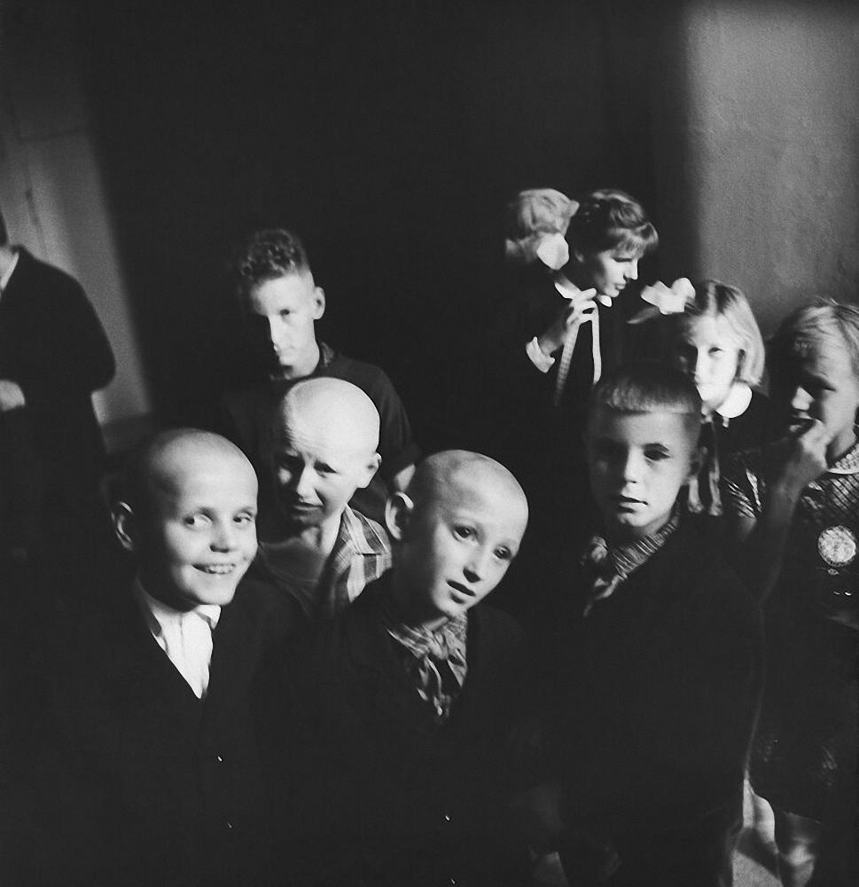 1962. Школа для слепых детей. Мальчики. Каунас