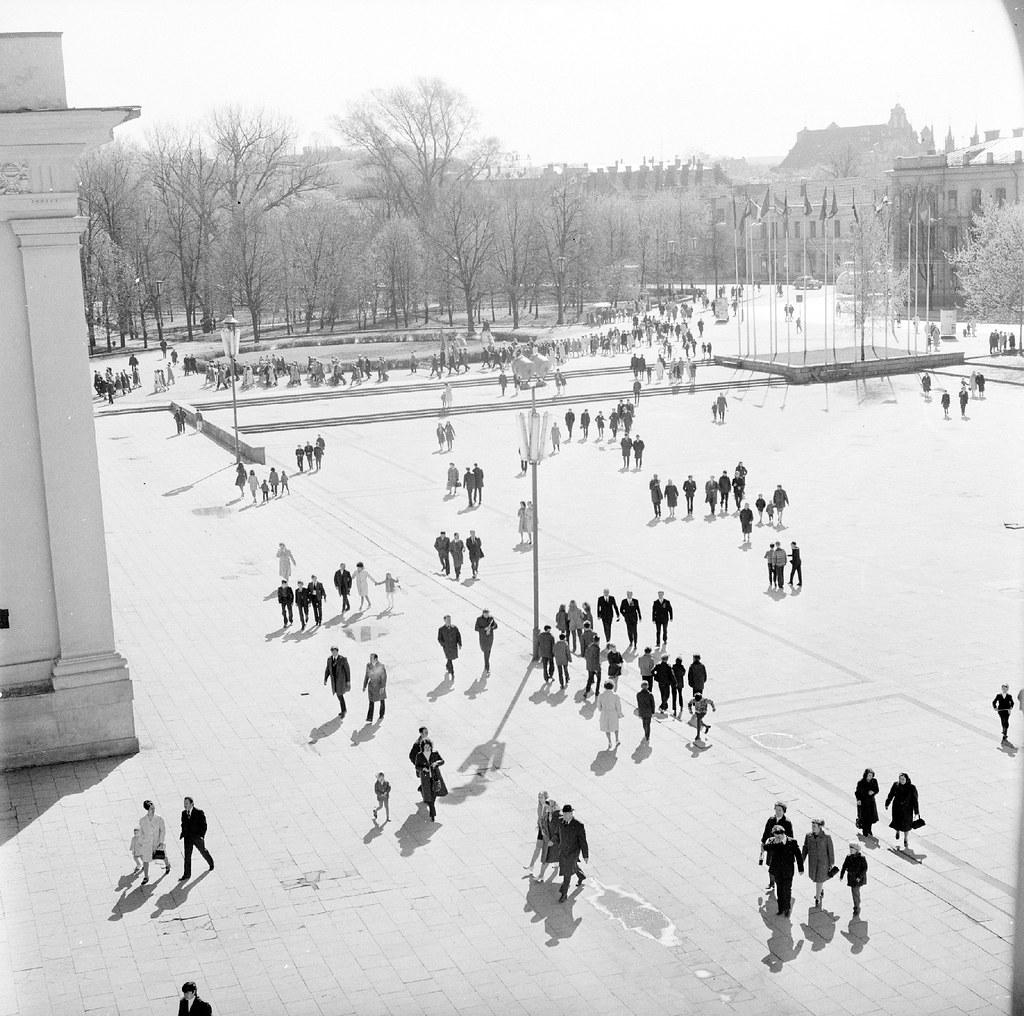 1962. Вильнюс. Соборная площадь