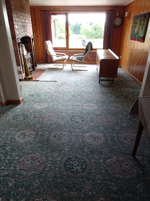 Downstairs cleared and ready for new wooden floors