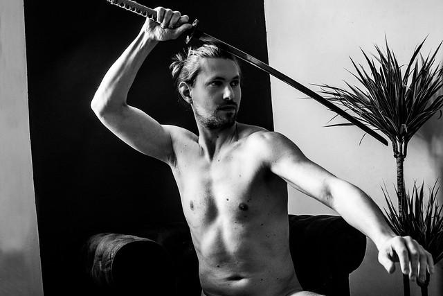 Mathieu et son sabre.
