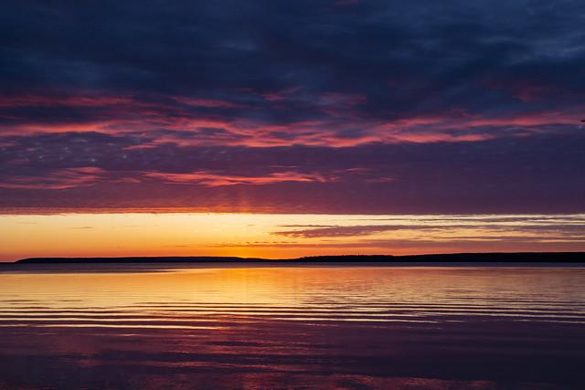 Sunset, Waskesiu Lake, Prince Albert National Park, Saskatchewan