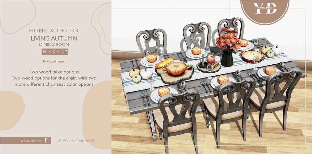 {YD} Living Autumn – Dining Room