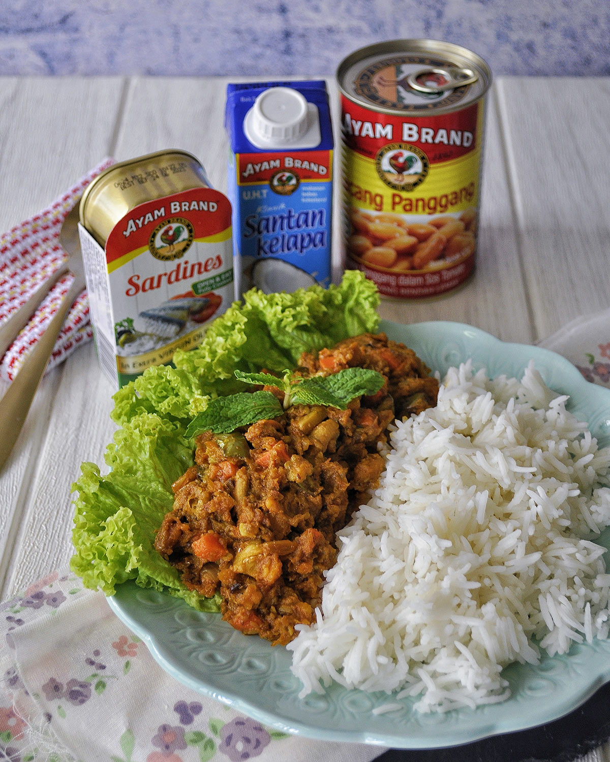 Baked-Beans-Sardine-Curry-With-Rice