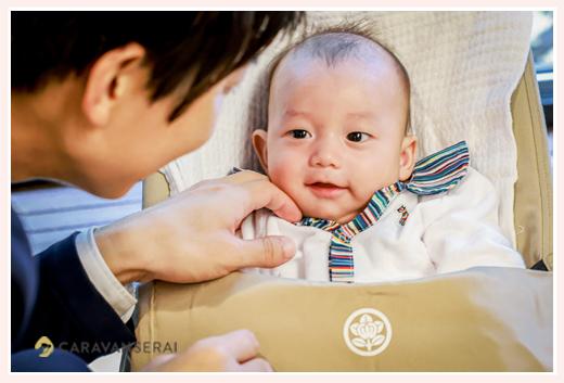 100日祝い ニッコリ笑顔の赤ちゃん