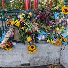 Flowers for Sarah Everard return to the Clapham Common bandstand