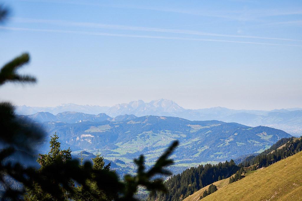 Look at the Säntis (Switzerland) from Hochgrat station.