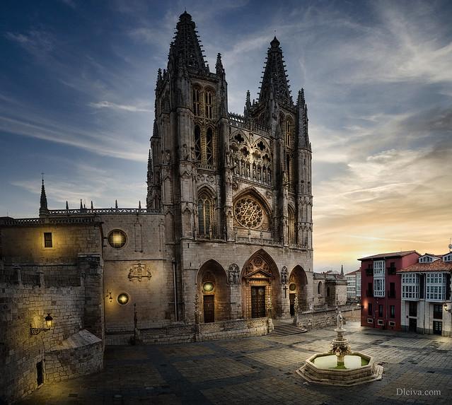 Burgos cathedral at dawn, Spain