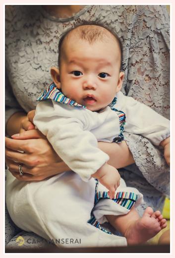 生後100日の赤ちゃん 男の子