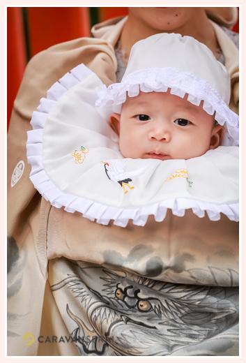 お宮参り 赤ちゃん 男の子 茶色のお祝い着