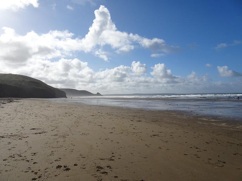 Sunday morning stroll, Newgale Beach
