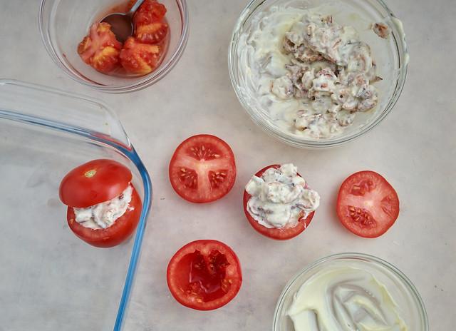 Tomate crevette preparation