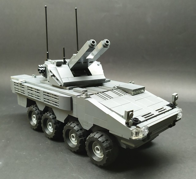 Lego AMV Patria AMOS Self-Propelled Mortar System