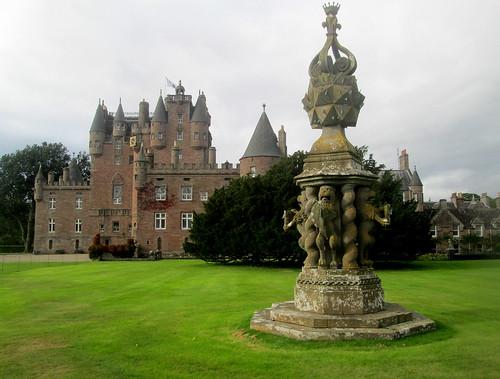 Glamis Castle and masonry, Angus, Scotland