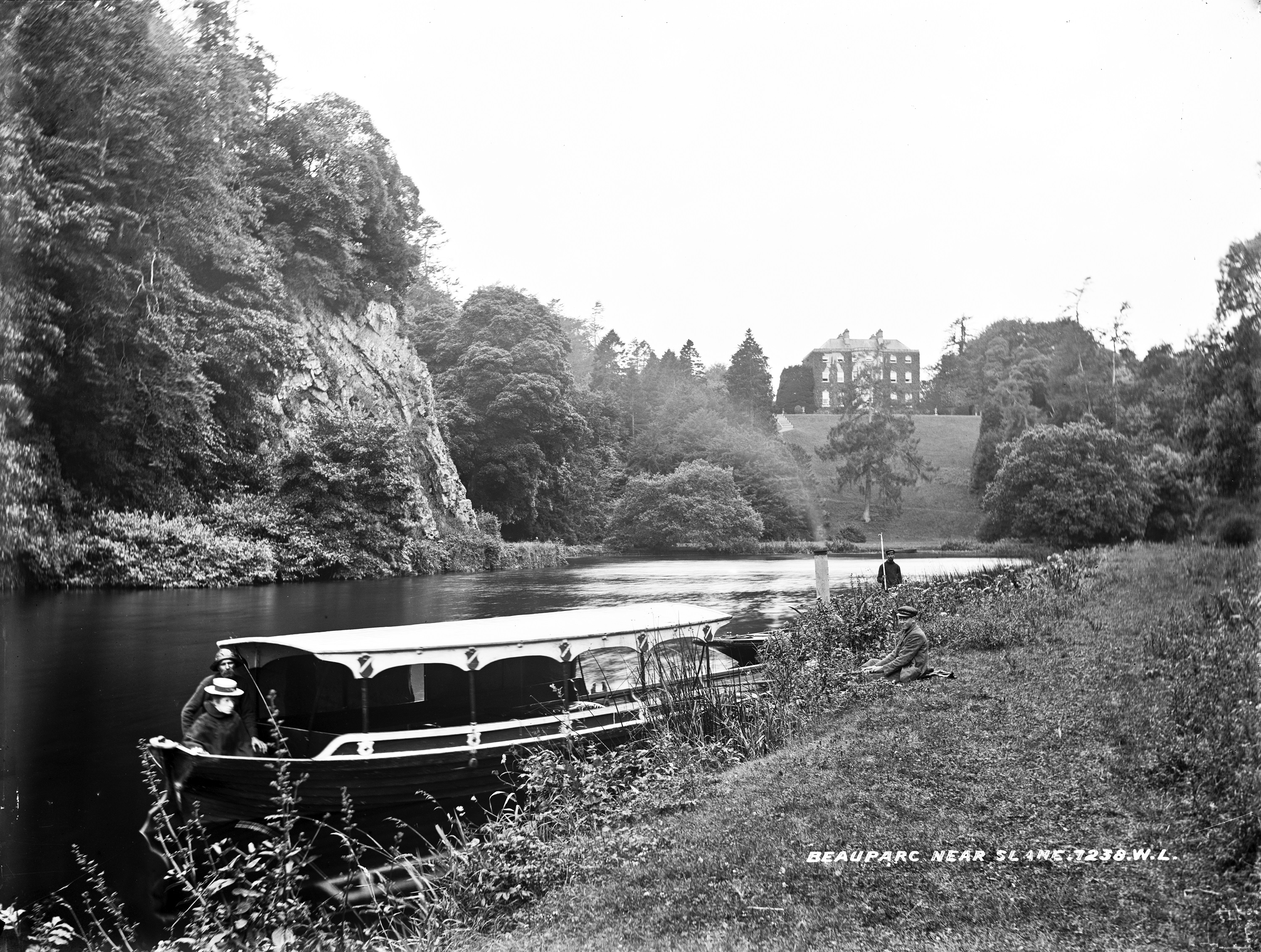 Beautiful Beauparc, boats and boat boy, by the Boyne.