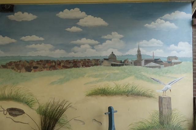 Muurschildering in Scheveningen