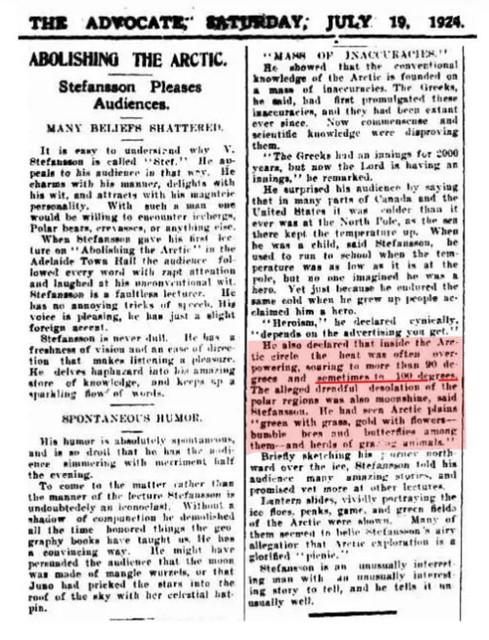 """Il NEW YORK TIMES pubblicava 118 anni fa: """"ONDA DI CALORE NEL CIRCOLO ARTICO"""" Era il 27 giugno 1902 … …. e il quotidiano affermava: """"Ci sono stati 92 gradi Fahrenheit nel Circolo Polare Artico più volte questa settimana."""" La CO2 era appena sotto i 300 ppm."""