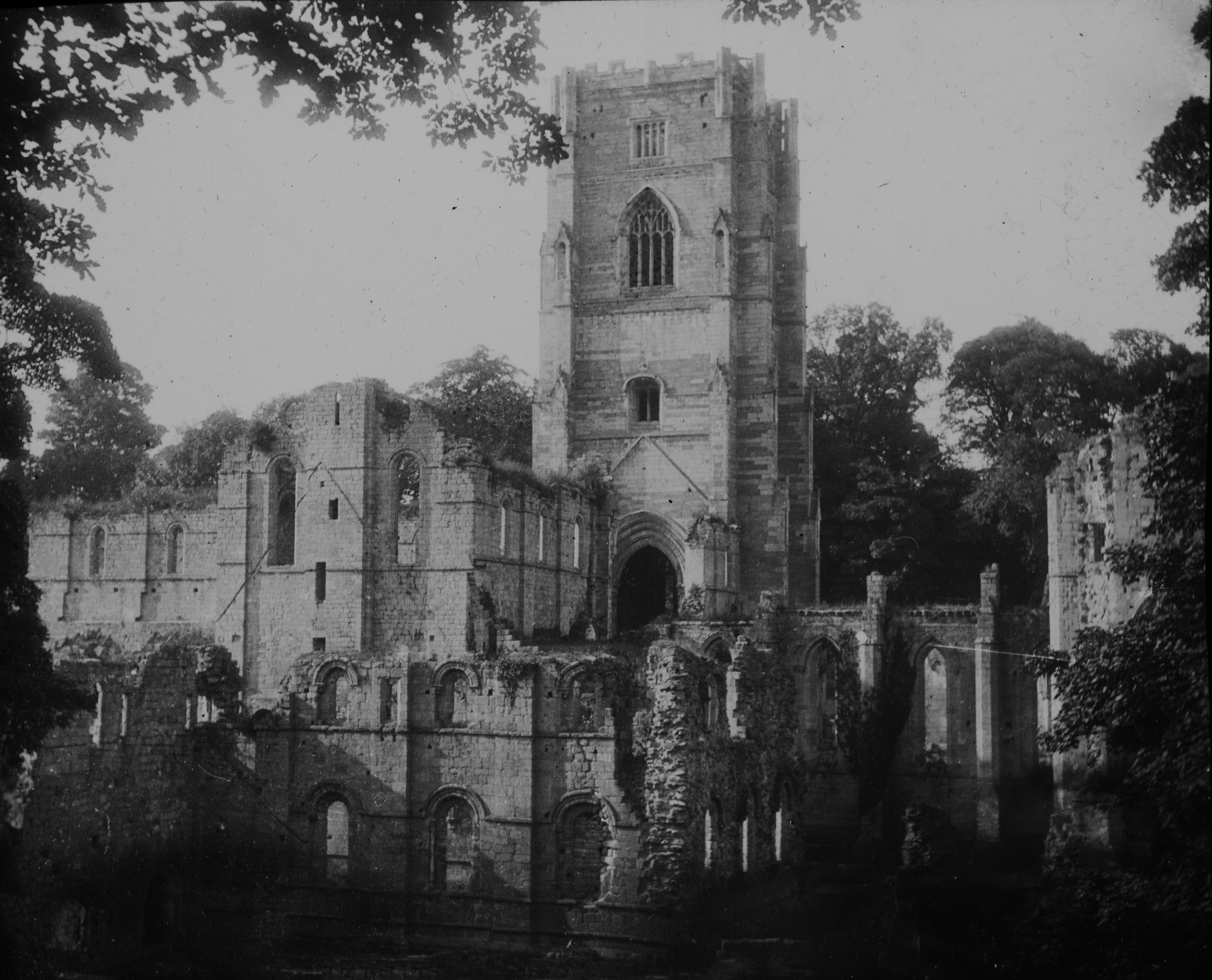 Fountains Abbey in England