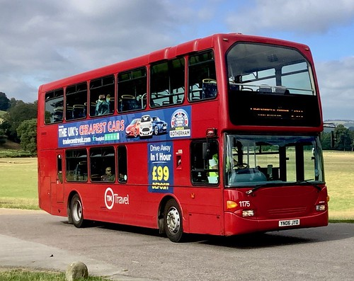 YN06 JYO  'TM Travel' No. 1175. Scania N94UD / East Lancs Omnidekka on Dennis Basford's railsroadsrunways.blogspot.co.uk'