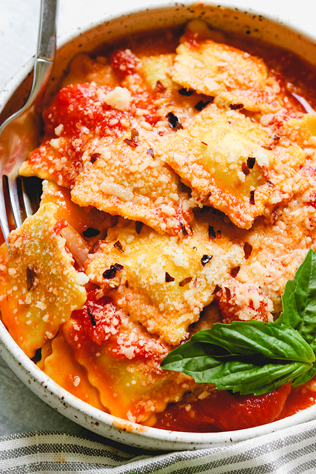 Tomato and Brown Butter Ravioli