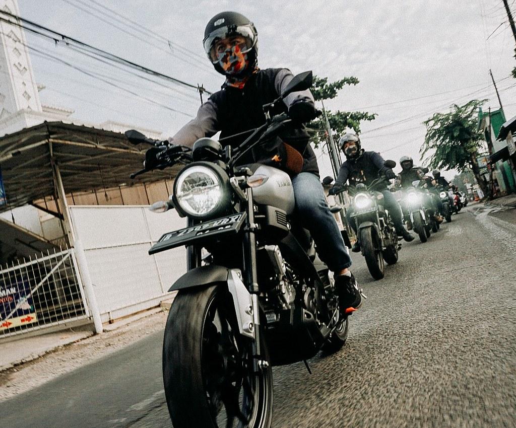 Tampilan XSR 155 bikin biker ganteng