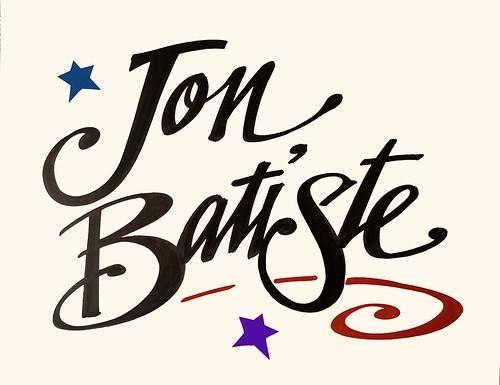 Jon Batiste - sign by Nan Parati