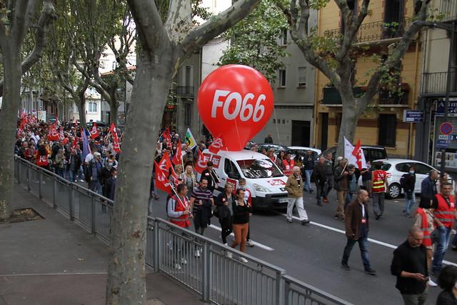 Journée nationale d'action et de grève du 5 octobre 2021 à Perpignan