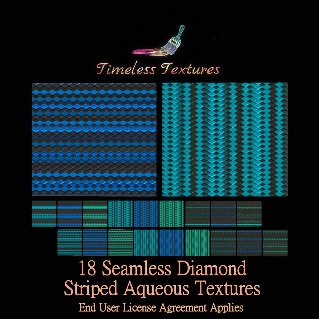 TT 18 Seamless Diamond Striped Aqueous Timeless Textures