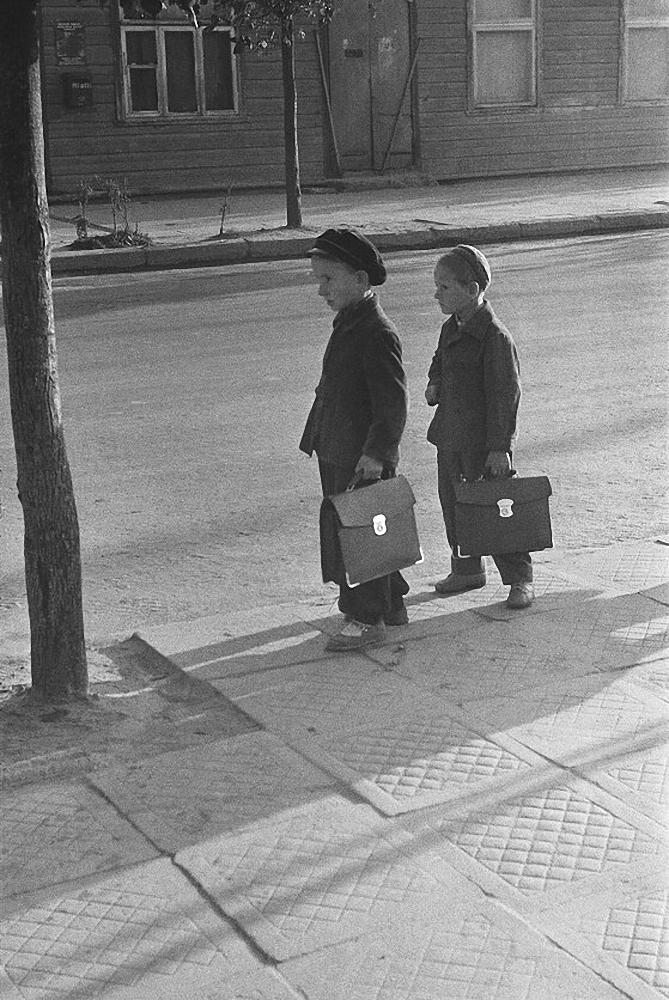 1964. Мальчики с портфелями, Игналина