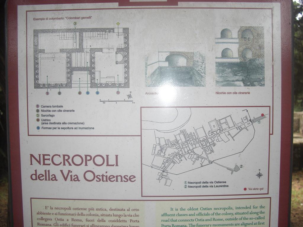 Plan of the Necropolis of the Porta Romana