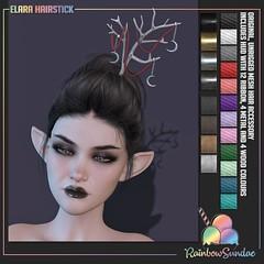 *Rainbow Sundae* Elara Hairstick