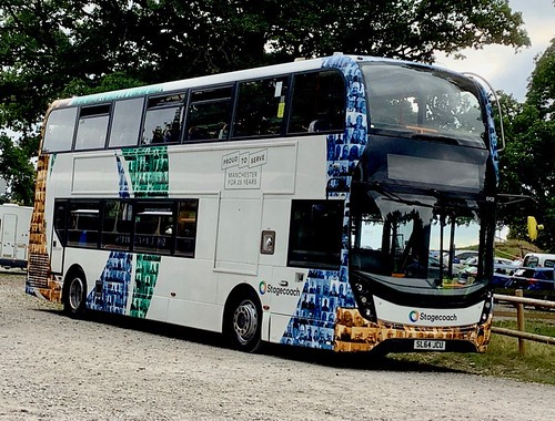 SL64 JCU 'Stagecoach Manchester' No. 10428 ' PROUD TO SERVE MANCHESTER FOR 25 YEARS'. Alexander Dennis Ltd. (ADL) E40D / 'ADL' Enviro 400MMC on Dennis Basford's railsroadsrunways.blogspot.co.uk'