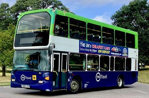 YN06 JYK 'TM Travel' No. 11. Scania N94UD / East Lancs Omnidekka on Dennis Basford's railsroadsrunways.blogspot.co.uk'