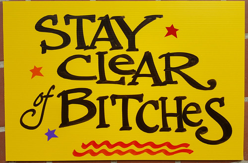 Stay Clear - sign by Nan Parati