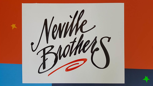 Neville Brothers - sign by Nan Parati