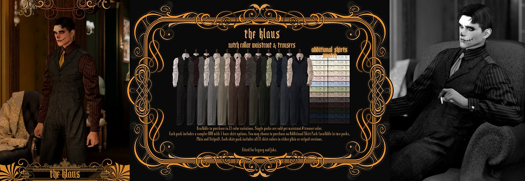 """""""The Klaus"""" Notch Collar Waistcoat & Trousers @ The Mens Department October 2021"""
