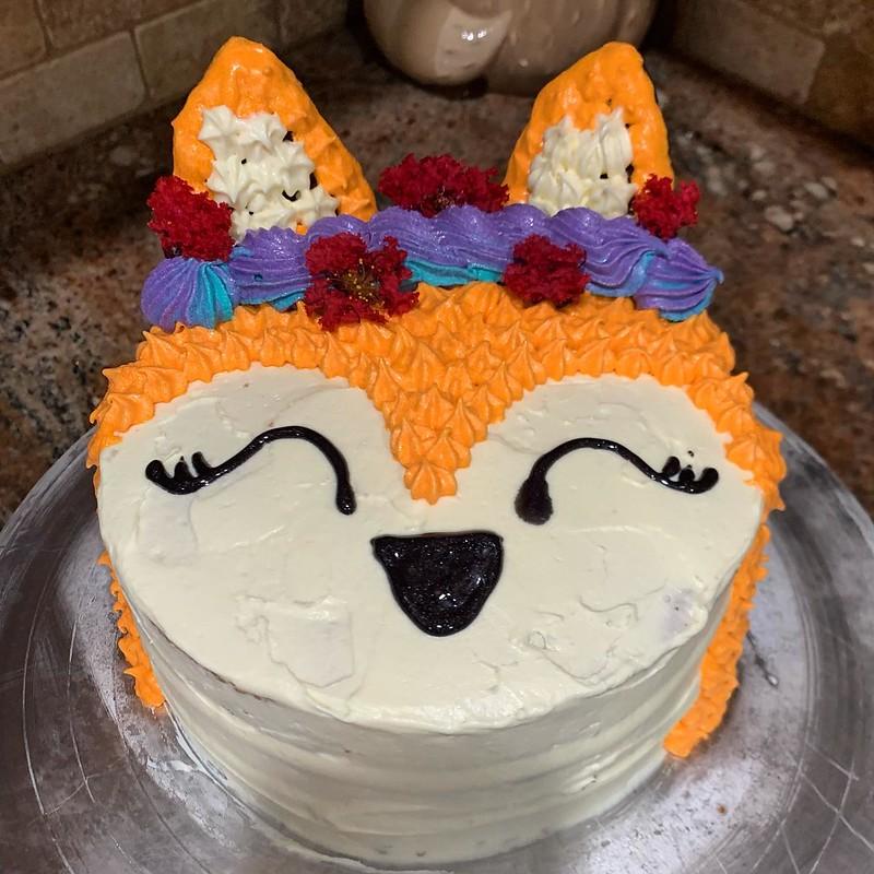 Fox Cake by Charmy Treats